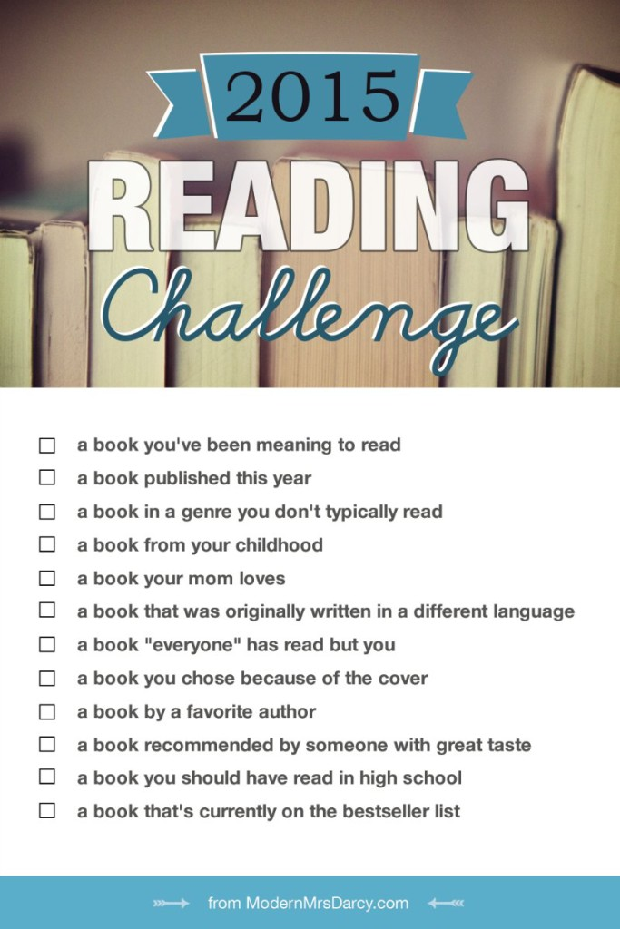 Modern Mrs. Darcy 2015 Reading Challenge: 12 books I'm reading in 2015