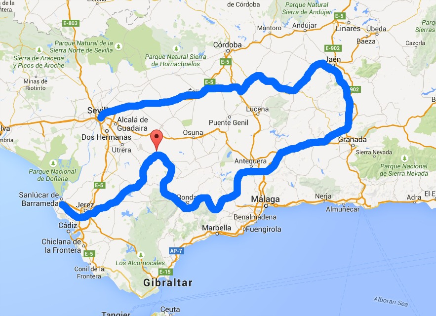Andalusia Spain by car: itinerary for Jaen, Granada, and Ronda
