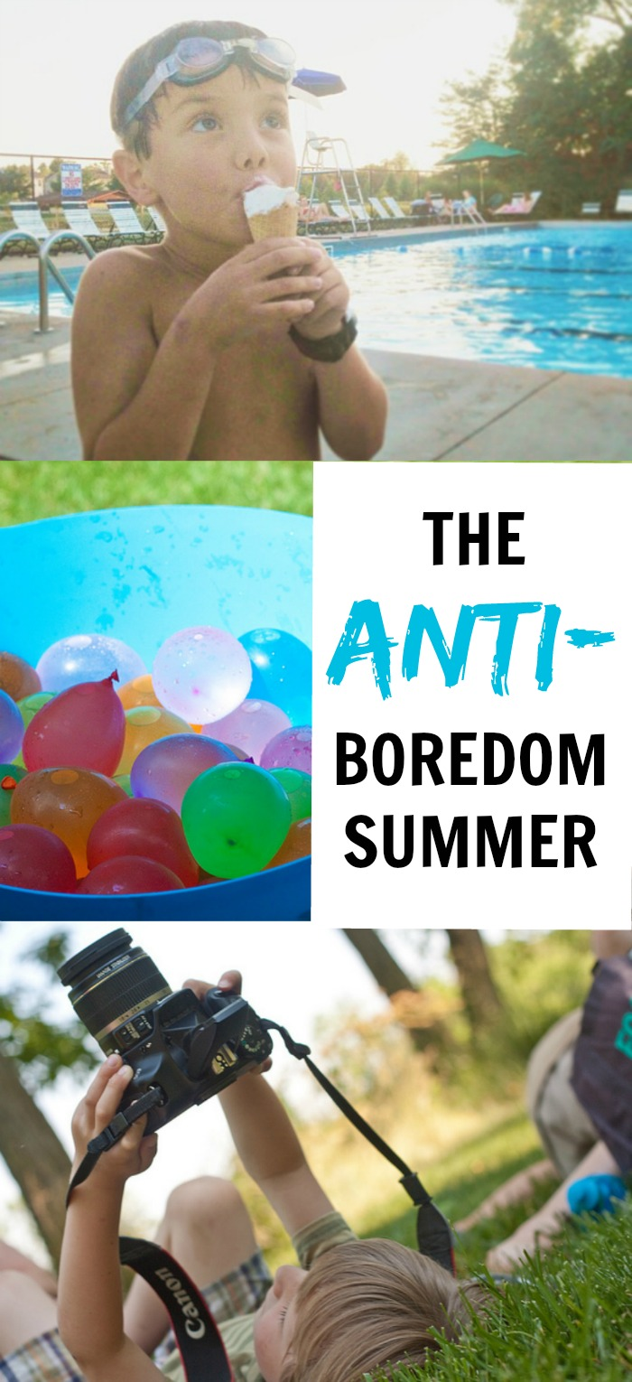 The Anti-Boredom Summer: 3 ideas to keep the kids from being bored during the summer without you having to entertain them all day long - no bucket list required! Manage screen time and let the kids learn to be their own boredom busters. Life Skills for Kids | Parenting | Kids Activities