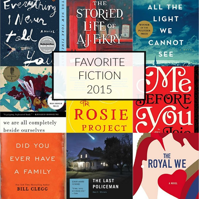 9 of my favorite fiction books of 2015. If you haven't read them yet, add them to your 2016 book list!