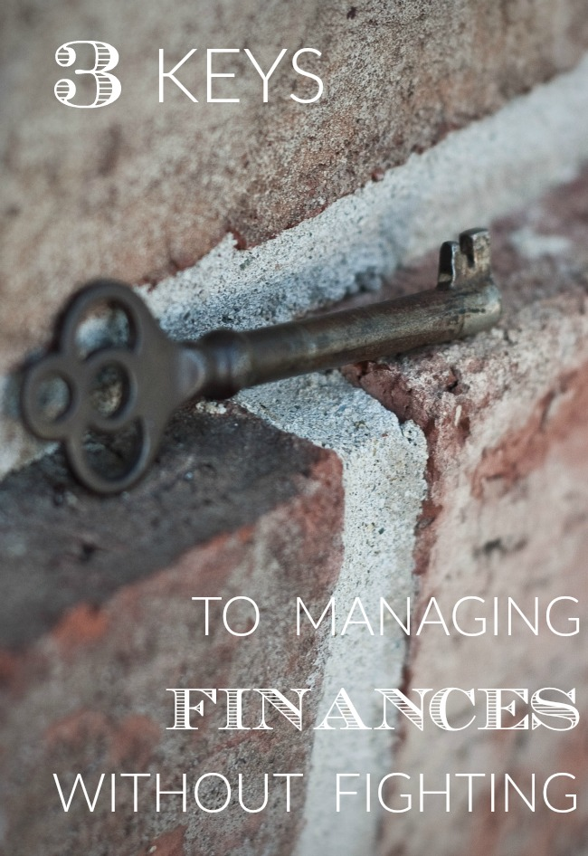 3 keys to budgeting and managing personal finance without fighting. Tips like these helped us as we were paying off debt and keep us debt free today!