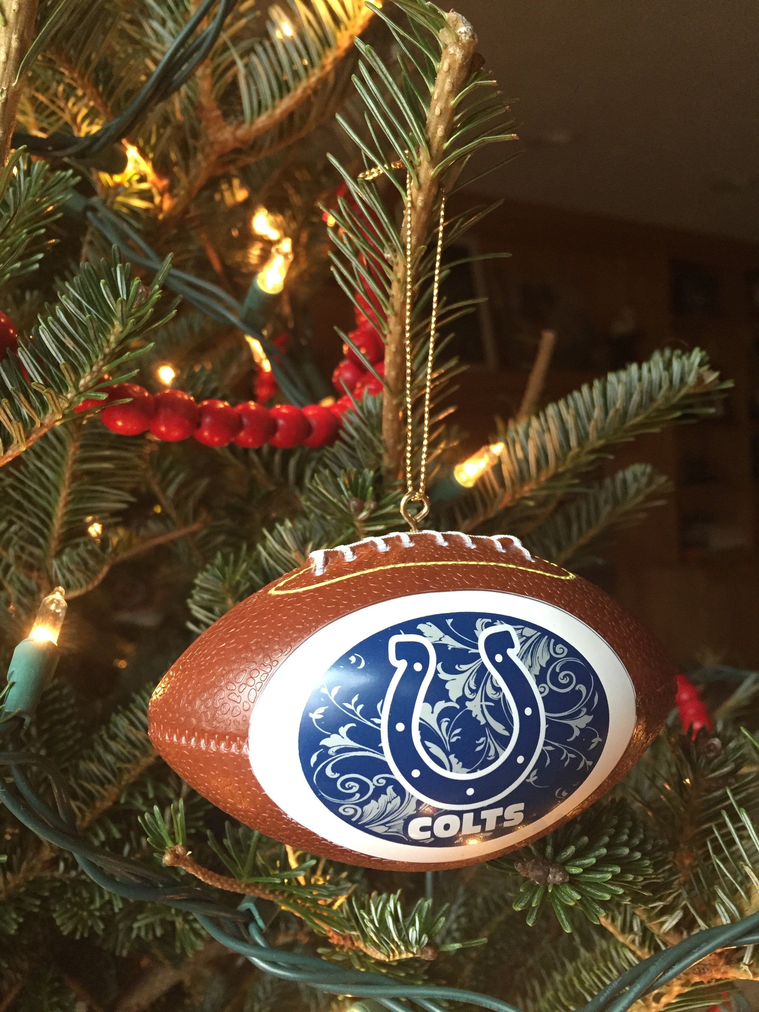Indianapolis Colts Christmas ornament