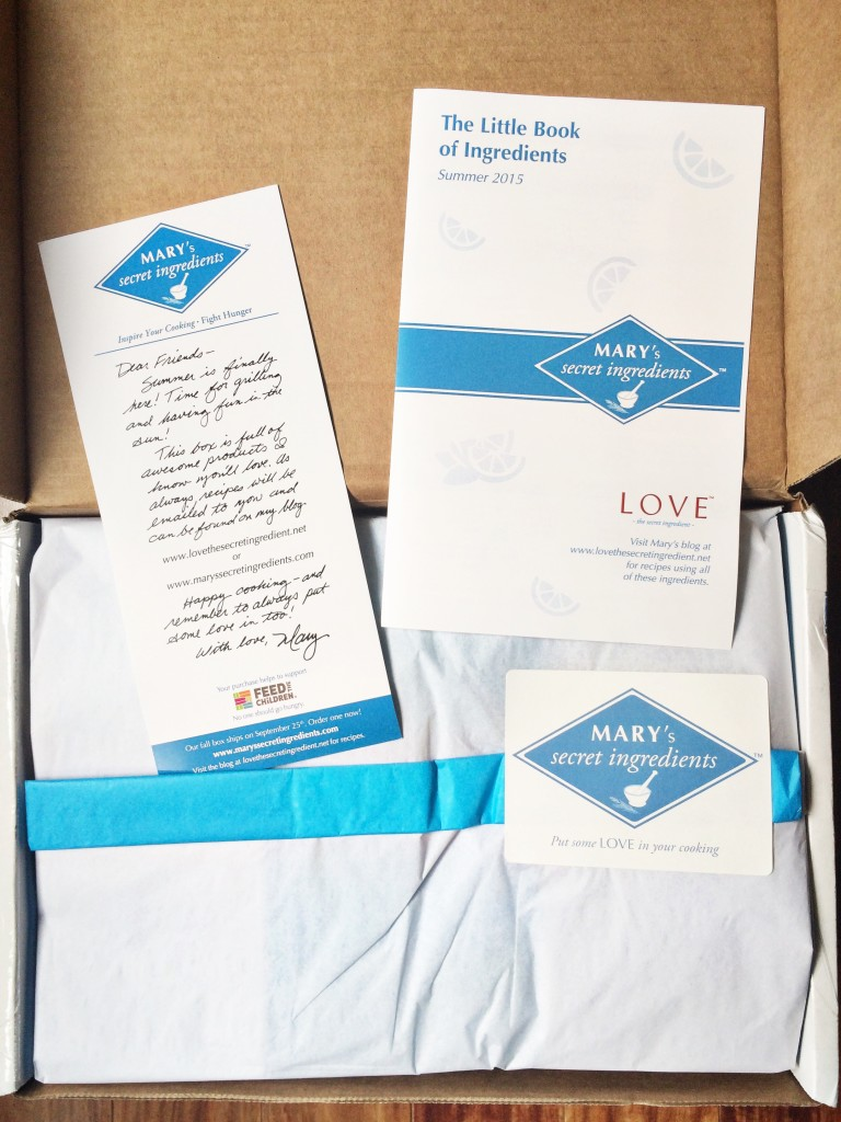 Mary's secret ingredients subscription box