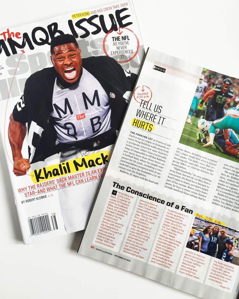 Angie Six Writer Sports Illustrated MMQB Issue