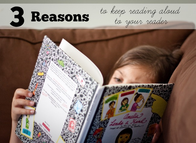Read aloud books are still important to emerging readers. 3 reasons why you should still read to kids after they can read on their own (including a benefit that might surprise you).