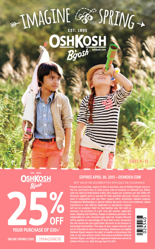 OshKosh B'gosh Spring 2015 coupon