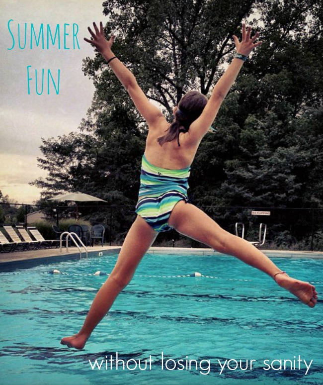Keep the fun in summer without losing your sanity! Easy ideas for kids' summer activities and a summer routine that works for parents and kids.