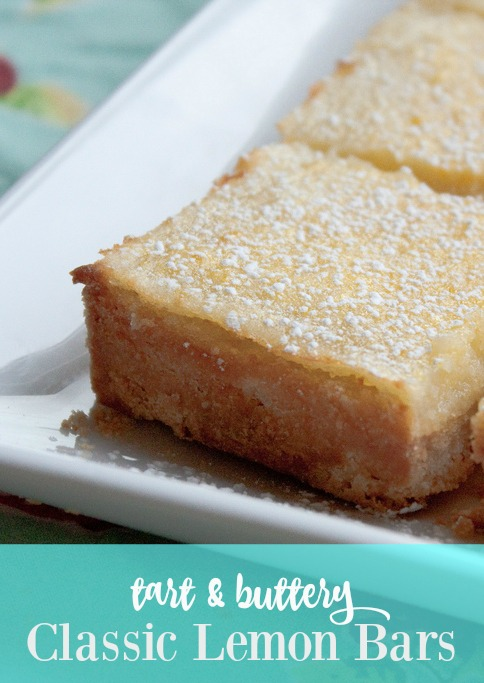 Classic lemon bars made with King Arthur Flour for a tender, buttery crust topped with a tart, lemon-filled curd. The best lemon bar recipe I've ever made!