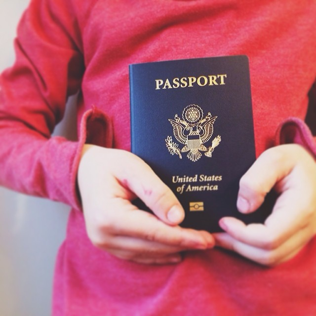 Passports for taking kids to Spain