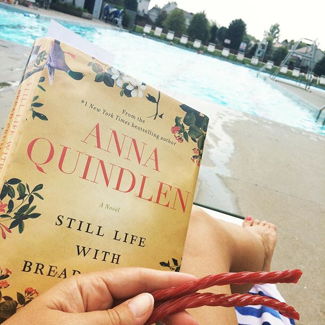 Pool, book and Twizzlers
